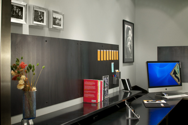 Shades of Gray, Steel, and Cigars: A Garage to Office Conversion - Gallery