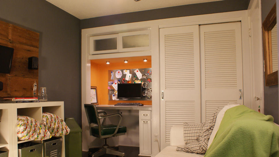 Gray, Green, and White: A Multi-Purpose Home Office - Gallery