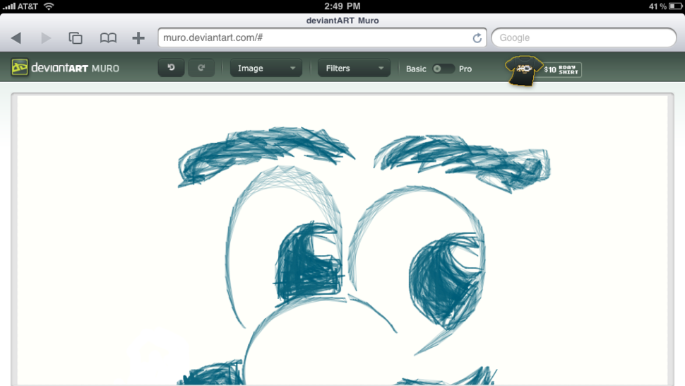 DeviantART Muro is an HTML5 Drawing App that Works on Your iPad