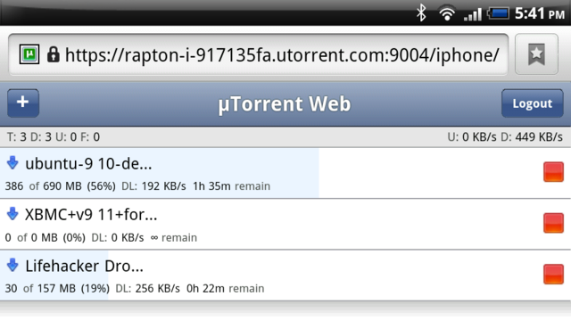 uTorrent 3.0 Alpha Adds Web Interface Support for iPad, Android