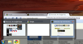 Show Chrome's Tabs as Separate Aero Peek Thumbnails