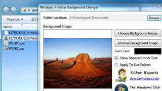 Windows 7 Folder Background Changer Adds Flair to Windows Explorer