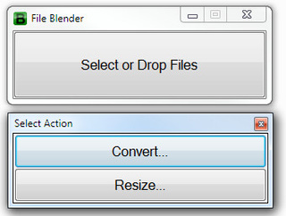 File Blender Converts Files with Drag and Drop Ease