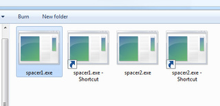 Use Transparent Shortcuts to Separate and Organize Your Windows 7 Taskbar Icons