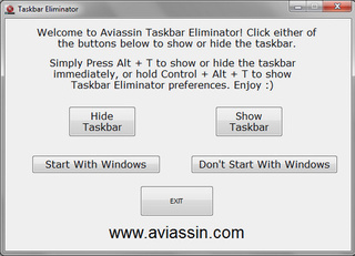 Taskbar Eliminator Ditches Your Windows Taskbar