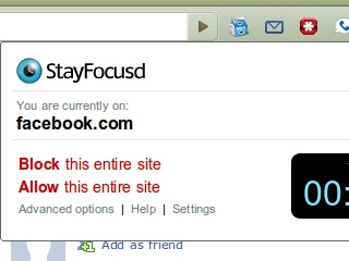 StayFocusd Blocks and Manages Time-Sucking Web Sites