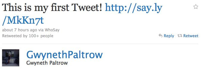 Gwyneth Paltrow Joins Twitter