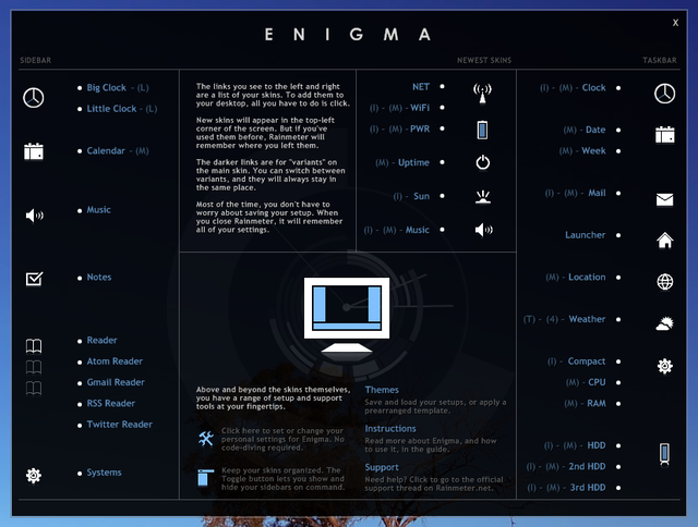 Rainmeter 1.0 Brings the Enigma Desktop to Everyone