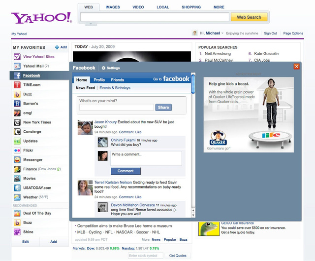 Yahoo Tweaks Its Homepage, Allows Content from All Over the Web