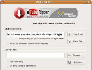 UTube Ripper Saves and Converts YouTube Videos