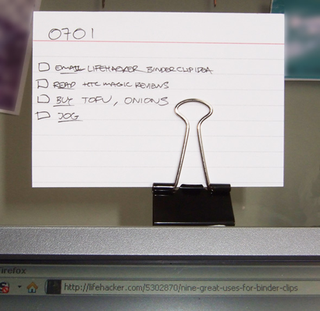 Make a DIY Document Holder With A Single Binder Clip