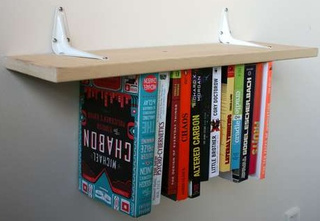 DIY Inverted Bookshelf