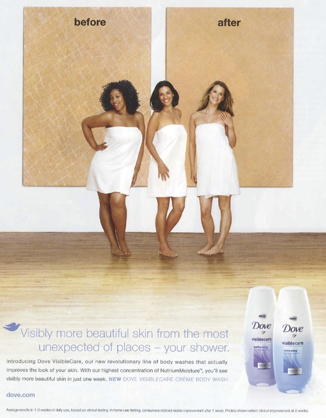 Dove Body Wash: Strong Enough To Turn A Black Woman White