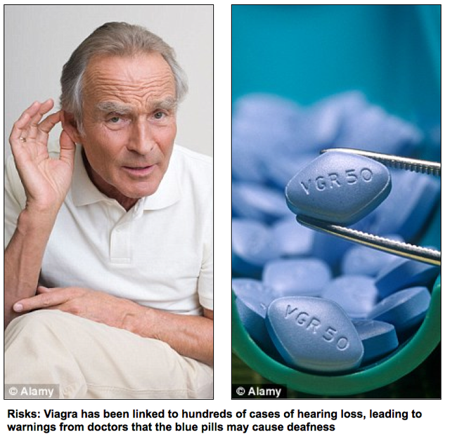 Does viagra cause deafness