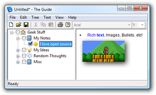 The Guide is a Portable, Open-Source Hierarchical Note Organizer