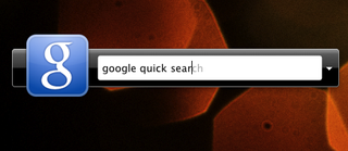 Google Quick Search Like Quicksilver from Google
