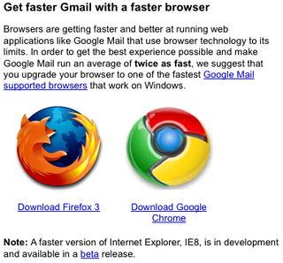 Firefox and Chrome Run Gmail Twice as Fast as IE, Says Google