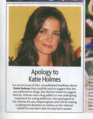This Week In Tabloids: Star Apologizes For Calling Katie Holmes An Addict