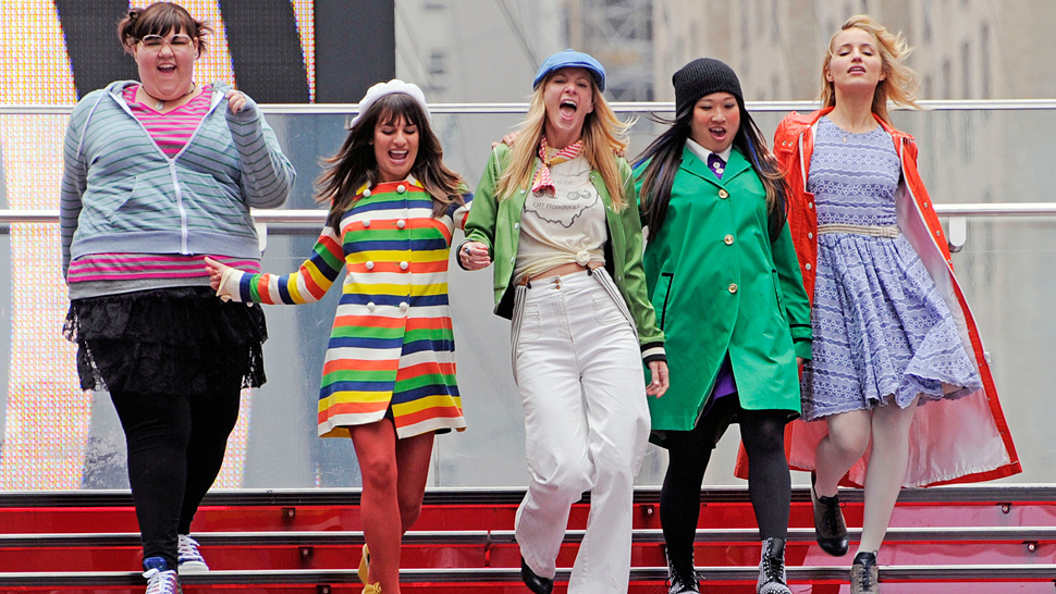 The Gals From <em>Glee</em> Make A Rainbow Connection
