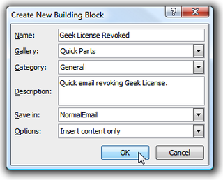 Save Time and Typing with Outlook 2007's Quick Parts