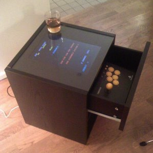 Turn your broken laptop into an arcade cocktail cabinet for Ikea table d arcade