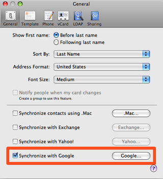 Enable Google Contact Sync Without an iPhone or iPod Touch
