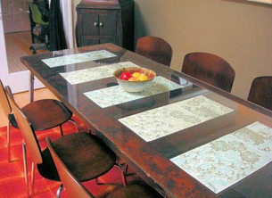 diy door to dining room table conversion