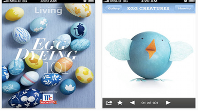 Obviously, Martha Stewart Has An Egg-Dyeing App