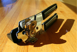 Open Clamshell Packaging with a Can Opener