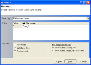 Hot Image Your PC's Hard Drive with DriveImage XML