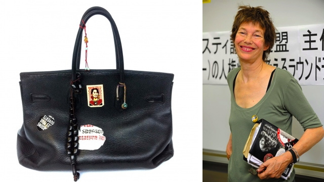 Jane Birkin Uses Her Birkin Bag As A Cat Bed