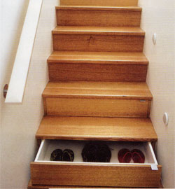 Turn your staircase into a set of drawers