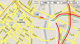 Google Maps traffic information