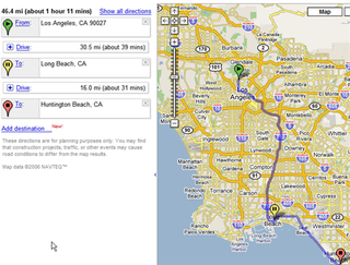 Google Maps multiple destinations