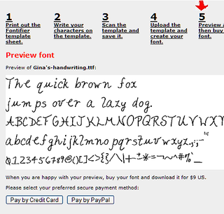 Geek to Live:  Make your own font