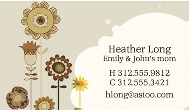 Introducing Mommy Business Cards