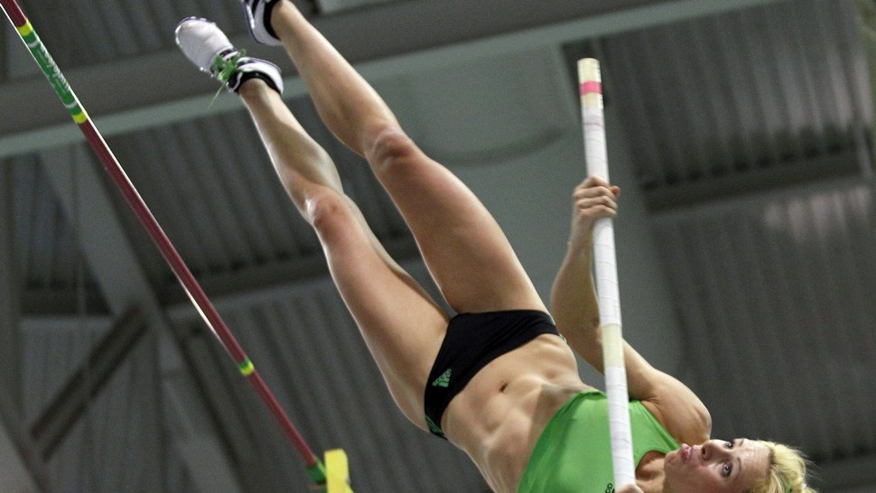 Track And Field Athletes Know How To Work The Pole