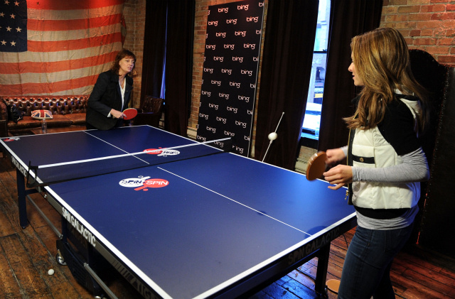 What Celebrities Were Thinking As They Played Ping-Pong at Sundance