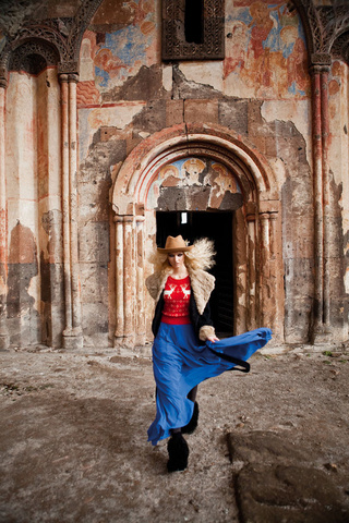 Elle Turkey Shoots Fashion Spread In Ruined Armenian City
