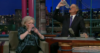 Betty White Guzzles Vodka With David Letterman