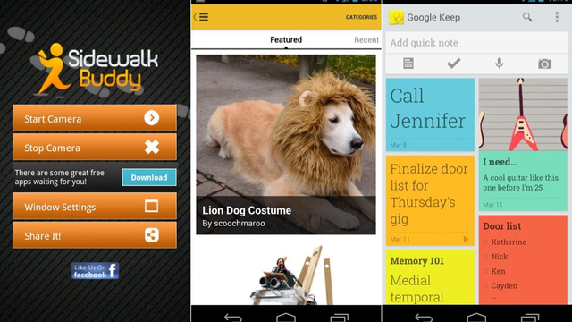 Click here to read Google Keep, Instructables, Sidewalk Buddy, and More