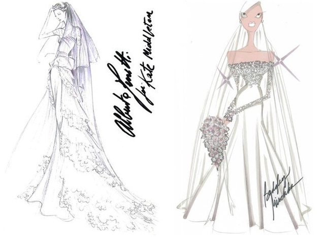 Kate Middleton's Wedding Attire As Imagined By Designers Who Will Never Dress Her