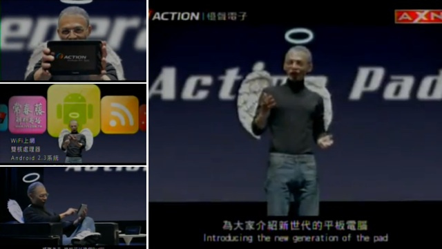 Dead Steve Jobs Selling New Android Tablet in Taiwan