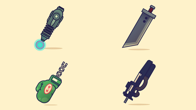 A Lovely Collection of Dangerous Video Game Weapons