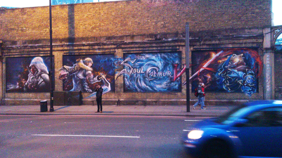 This <em>Soul Calibur V</em> Grafitti May Be An Ad… or Just the Work of Ardent Fans?