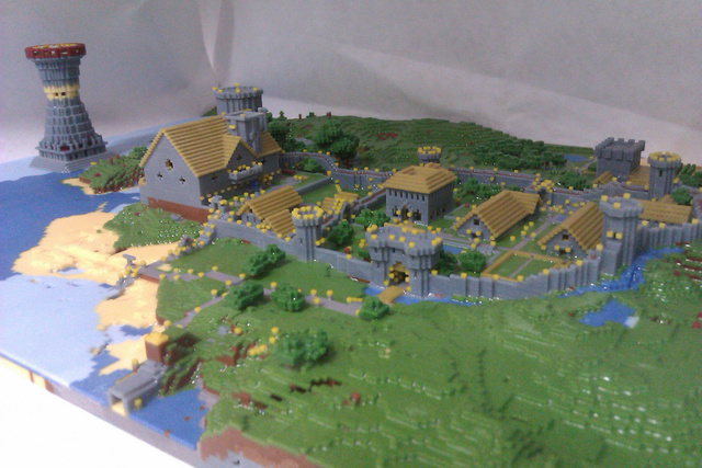 Somebody Built An Actual Minecraft Village, And It Is Amazing