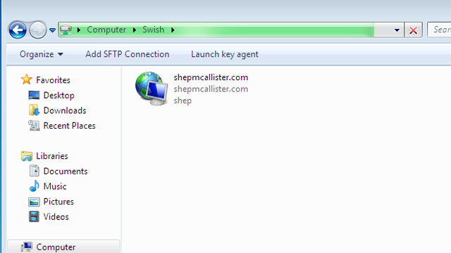Click here to read Swish Navigates SFTP Connections in Windows Explorer