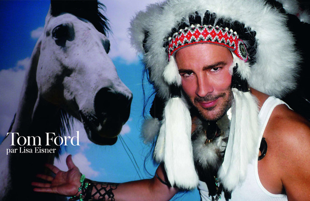 Tom Ford Shows French Vogue His Headdress Collection