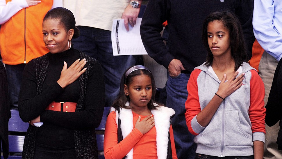 Sasha Obama Is Distracted By ________