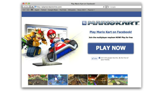 No, You Can't Play Mario Kart On Facebook, Despite Scammers' Claims